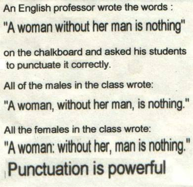Correct punctuation is useful for copywriters