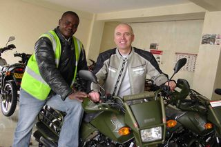 Adventure motorcycle travel in Nairobi
